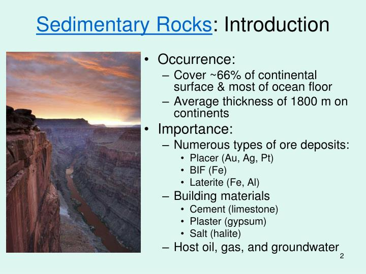 Sedimentary rocks introduction