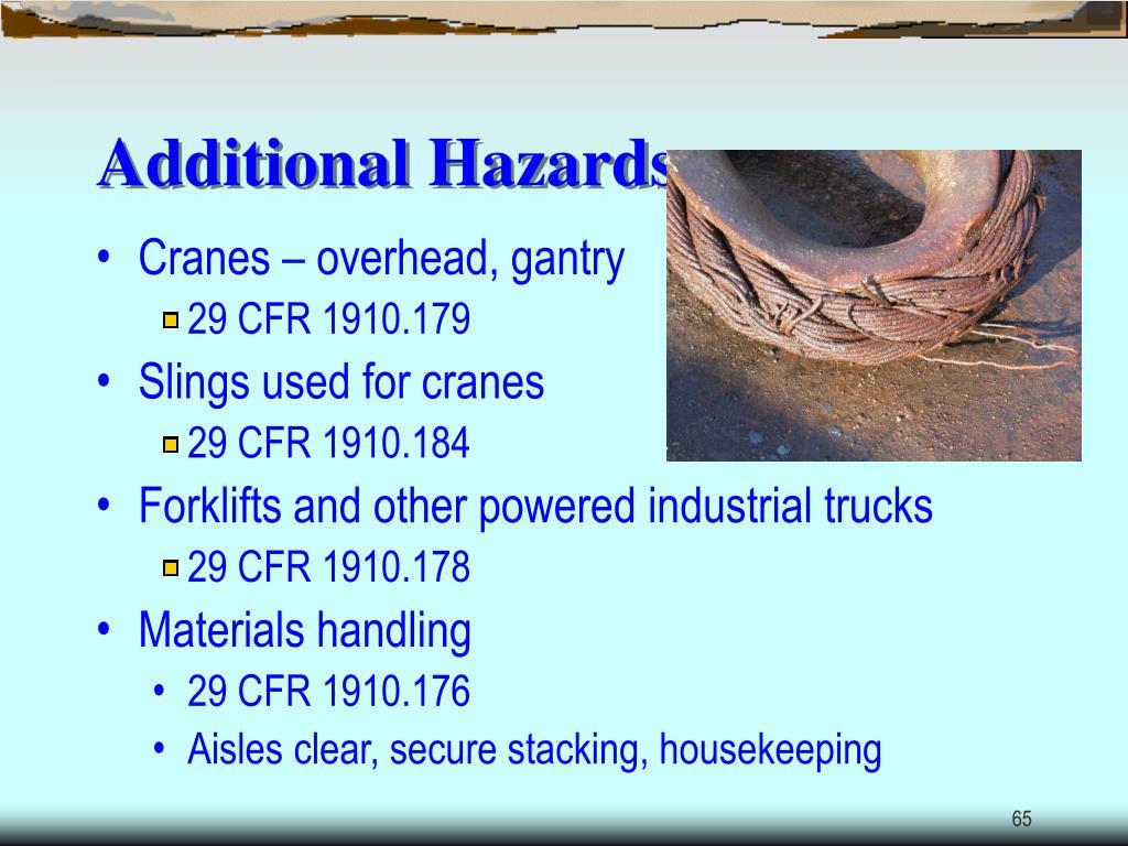 Additional Hazards