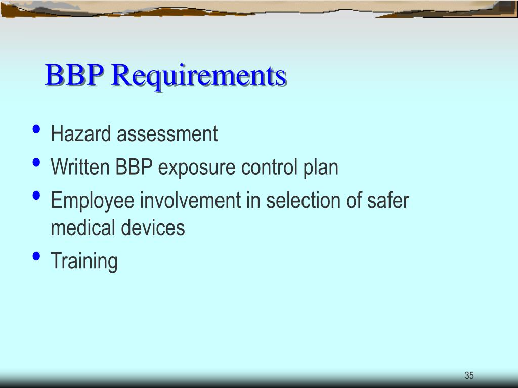 BBP Requirements