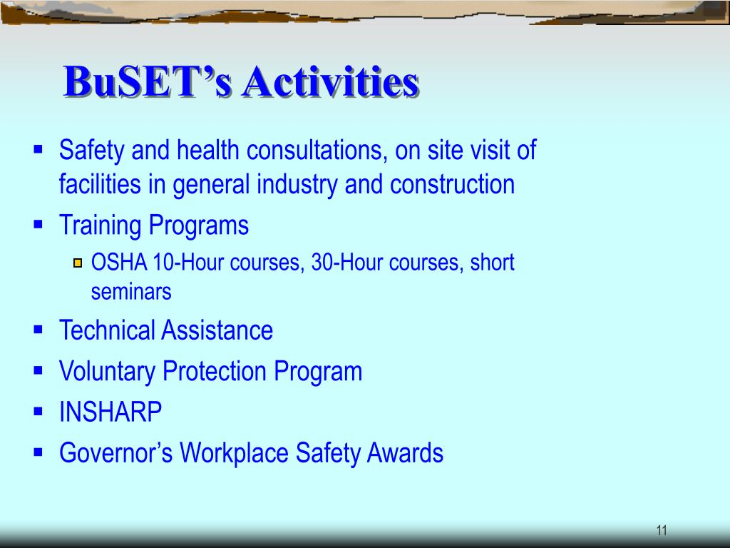 BuSET's Activities