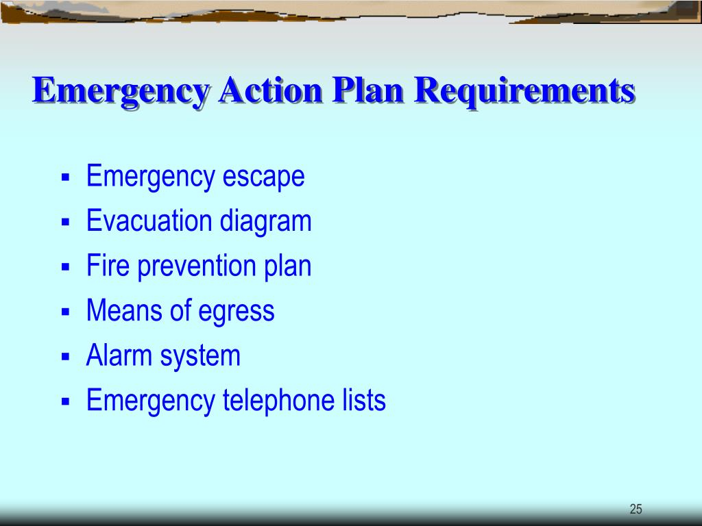 Emergency Action Plan Requirements