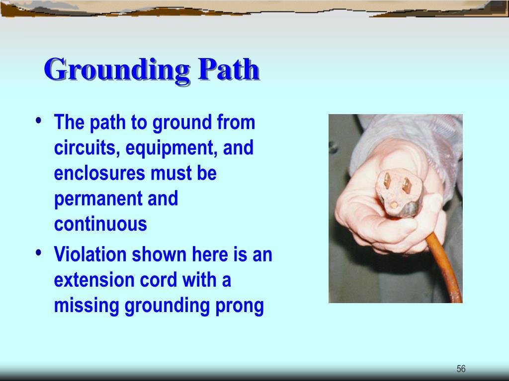 Grounding Path