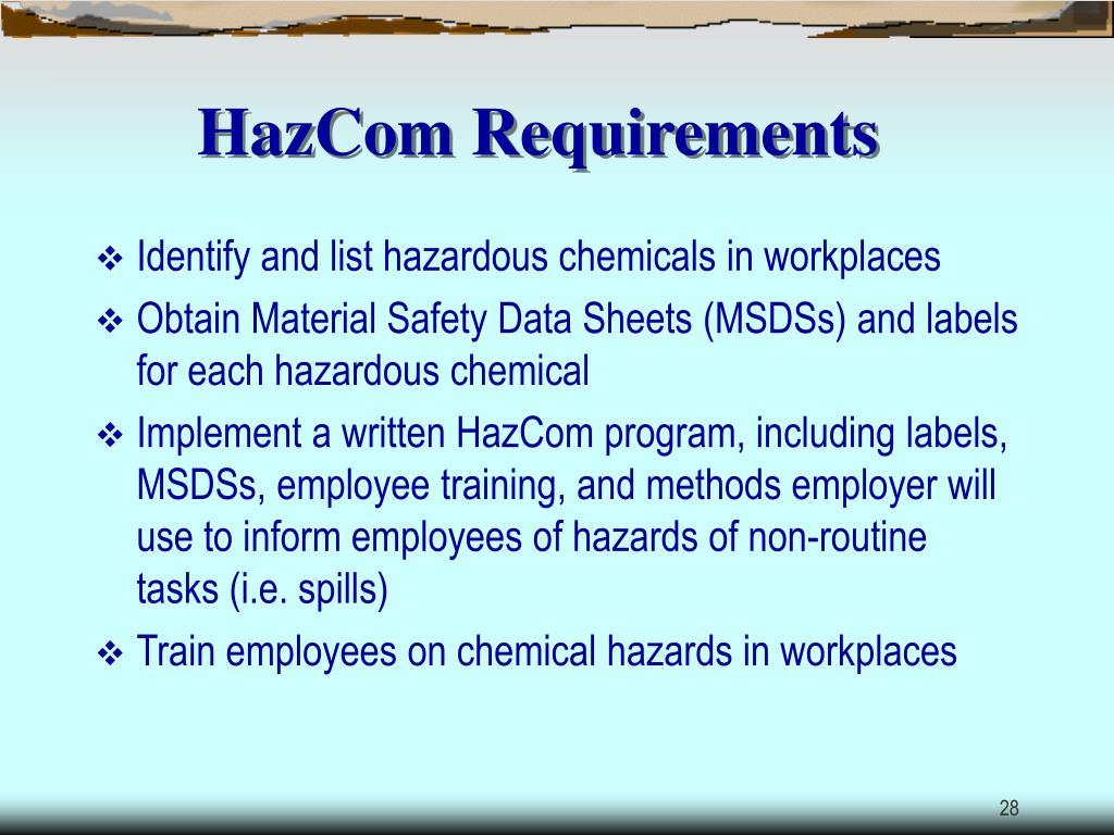 HazCom Requirements