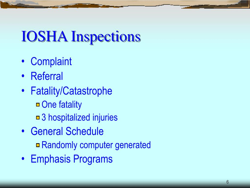 IOSHA Inspections