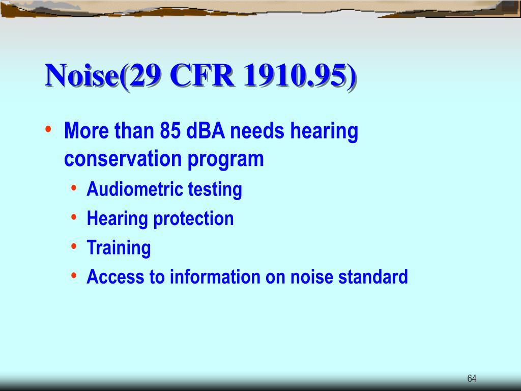 Noise(29 CFR 1910.95)