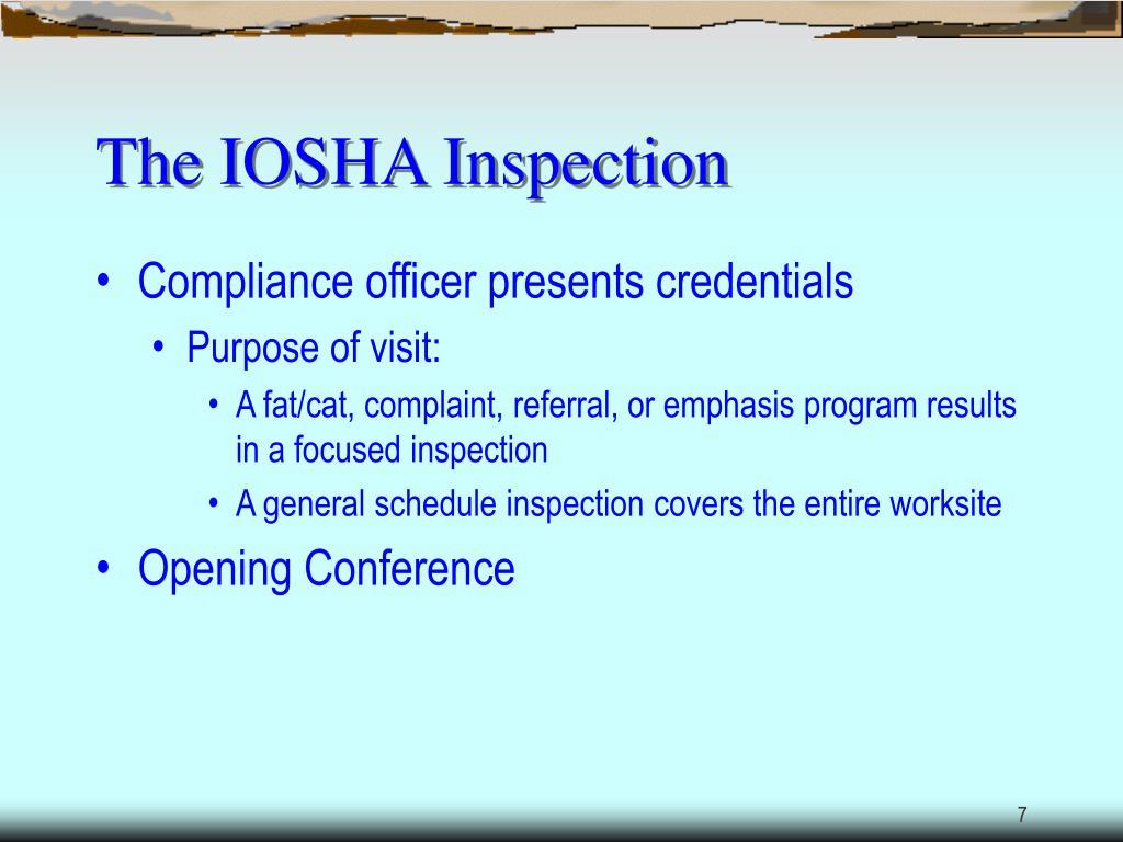 The IOSHA Inspection