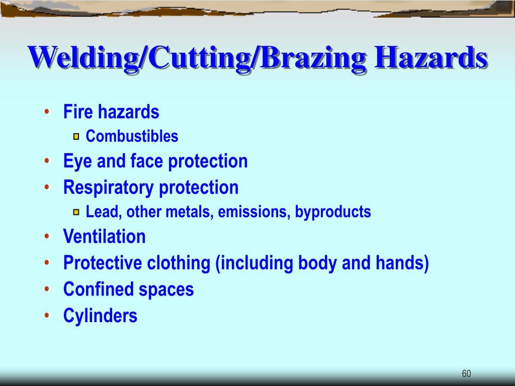 Welding/Cutting/Brazing Hazards