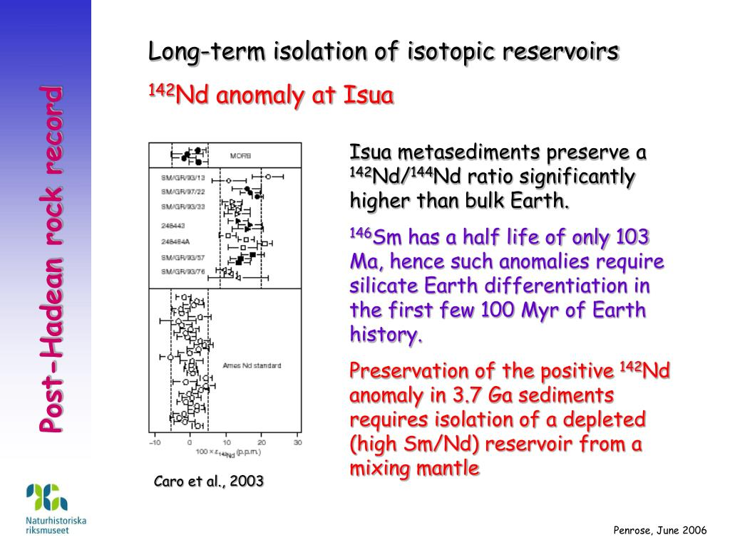 Long-term isolation of isotopic reservoirs