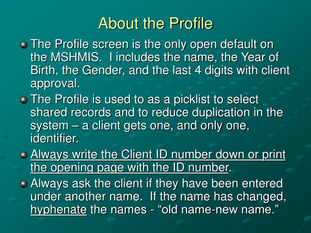 About the Profile