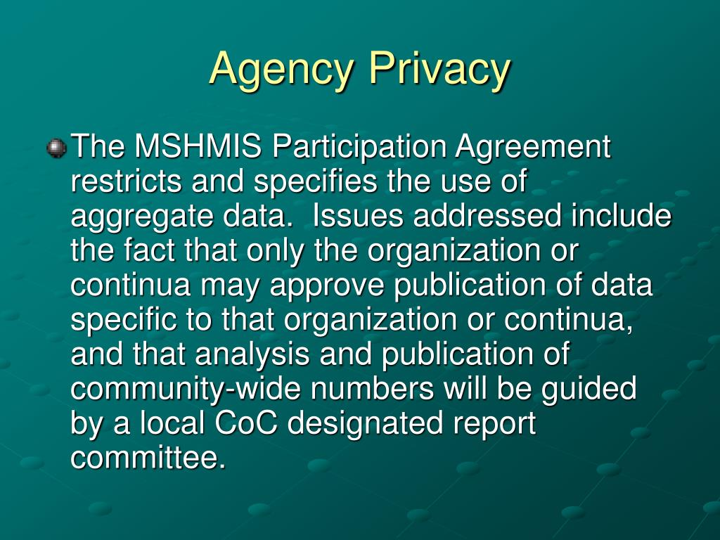 Agency Privacy