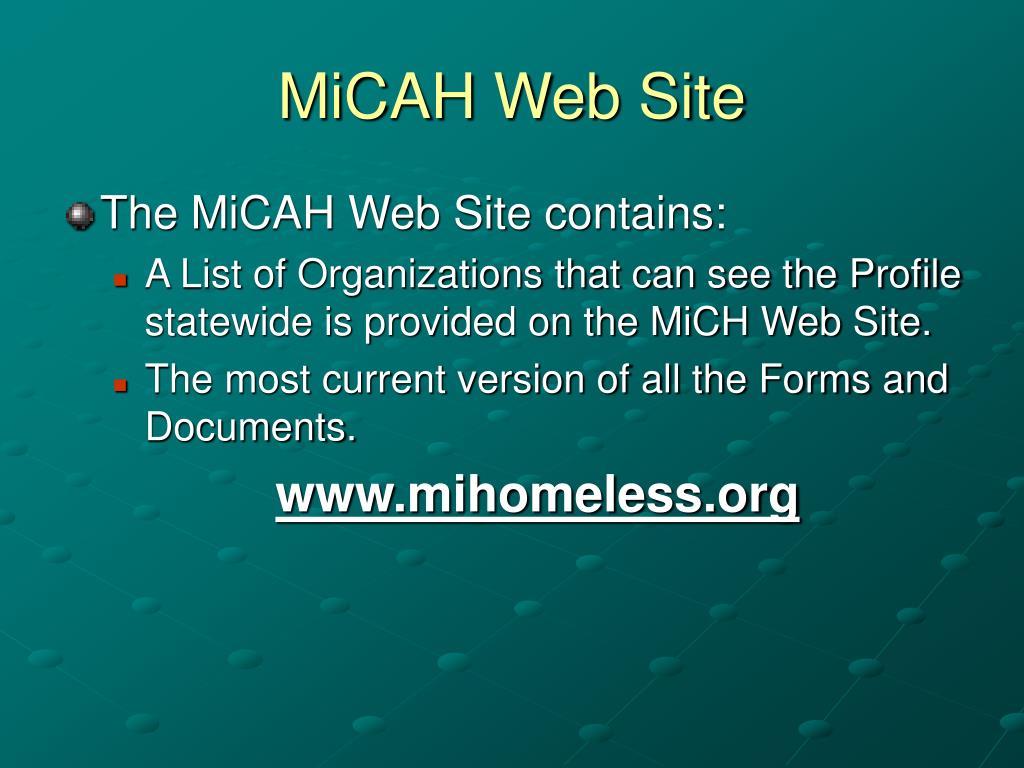 MiCAH Web Site
