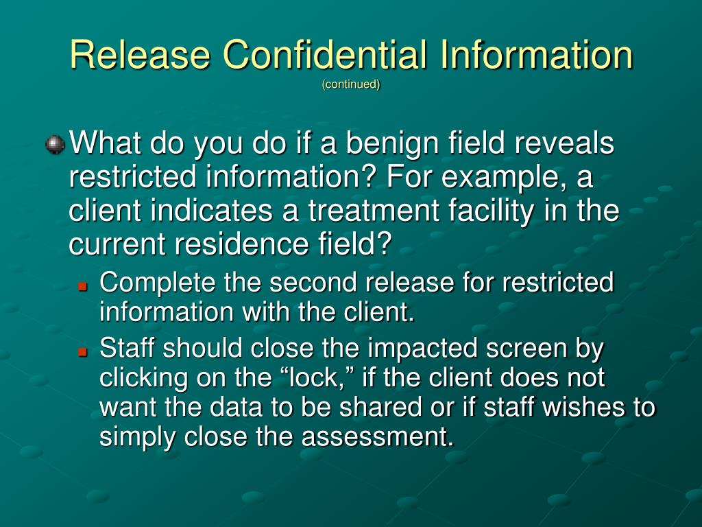 Release Confidential Information