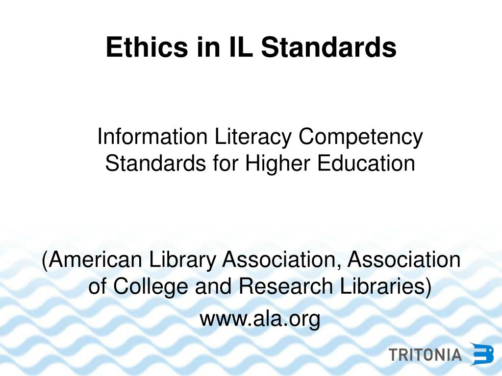 Ethics in IL Standards