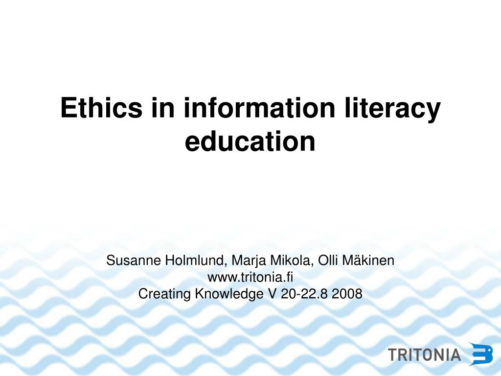 Ethics in information literacy education