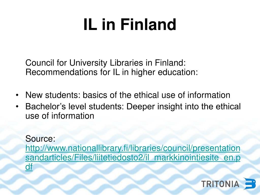IL in Finland