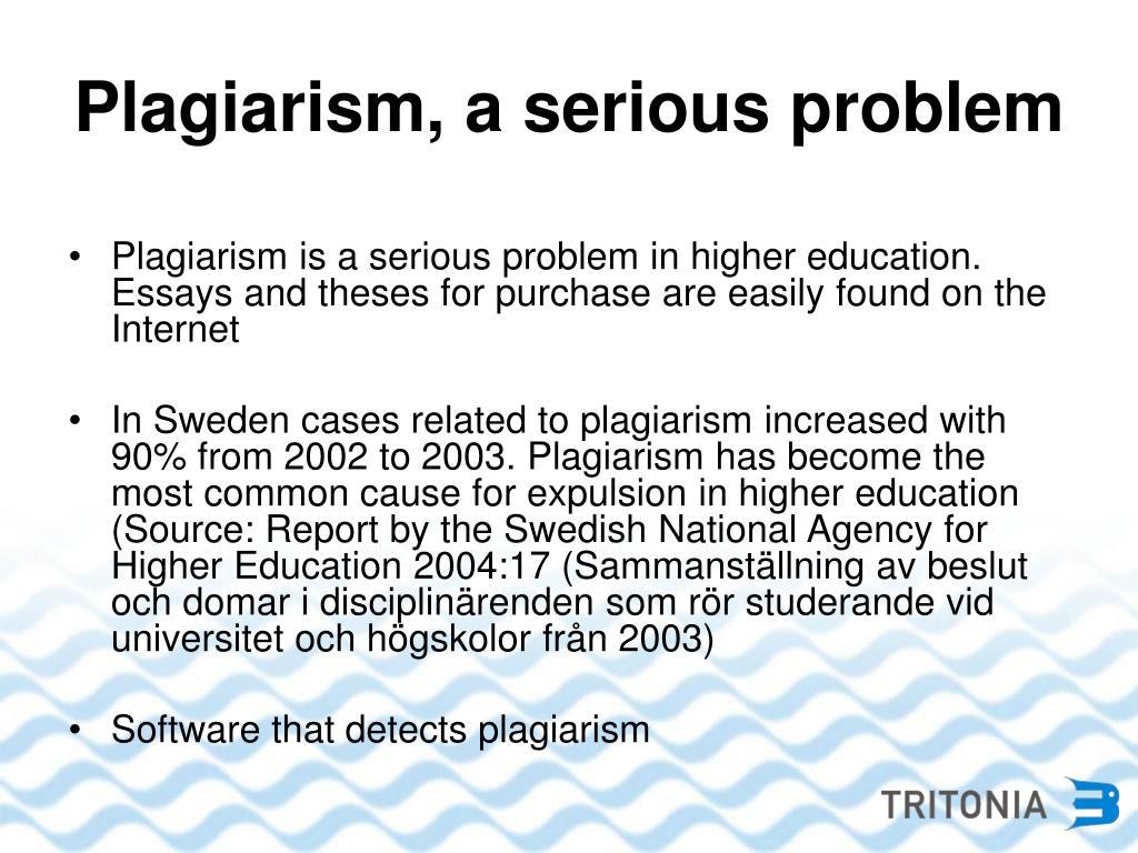 Plagiarism, a serious problem