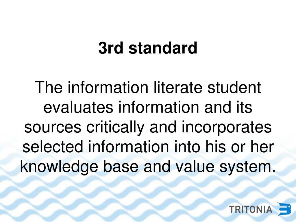 3rd standard