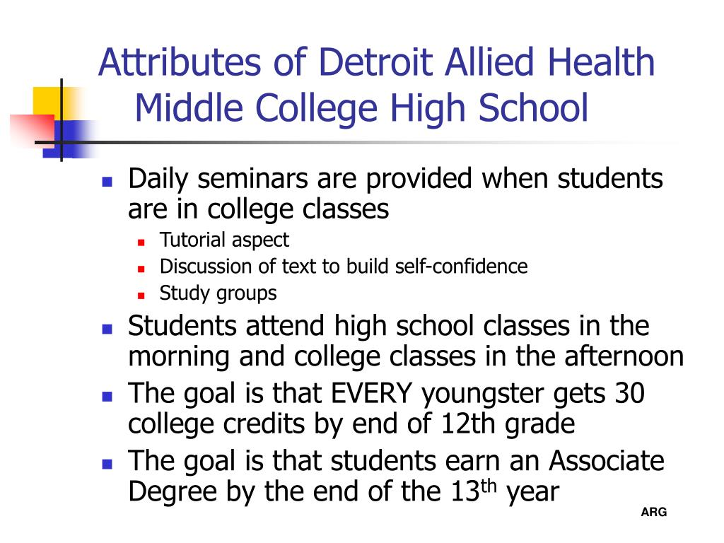 Attributes of Detroit Allied Health