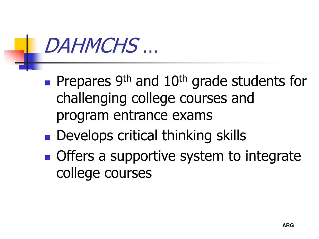 DAHMCHS