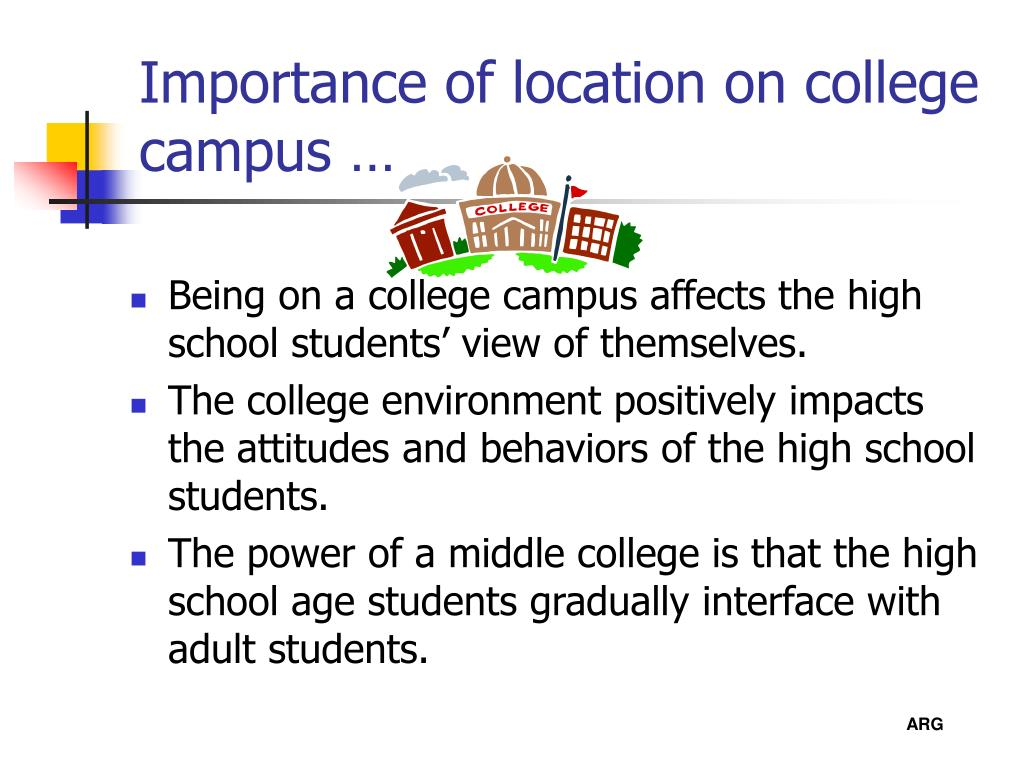 Importance of location on college campus …