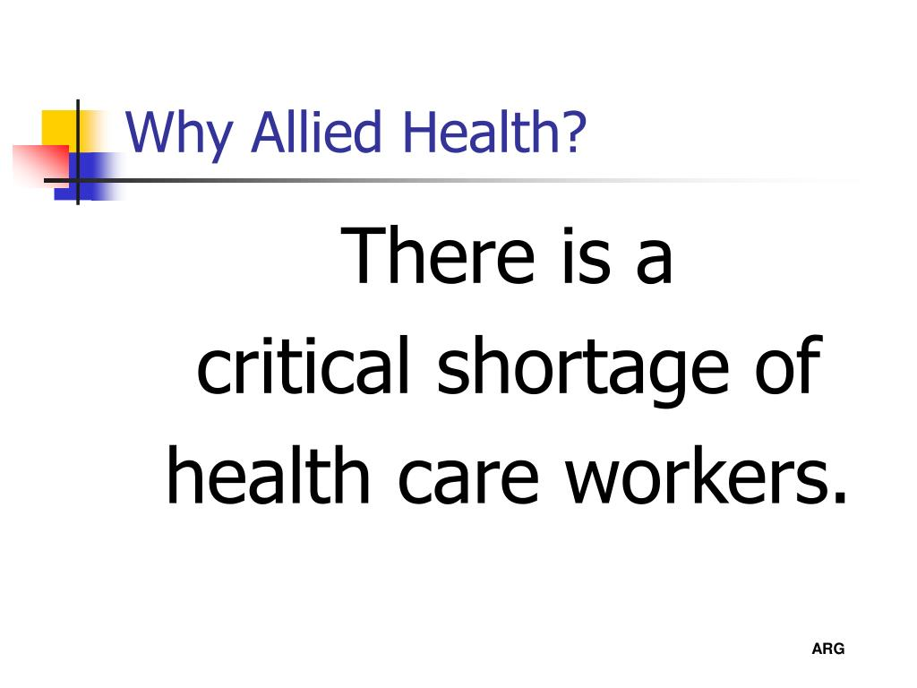 Why Allied Health?
