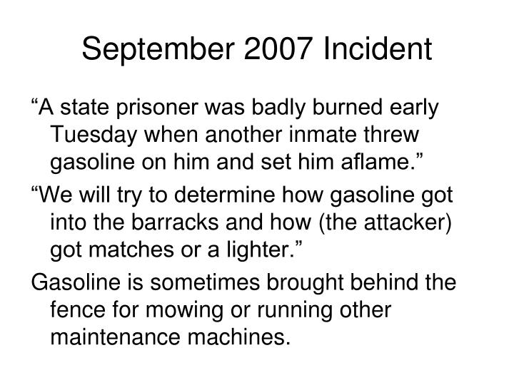 September 2007 incident