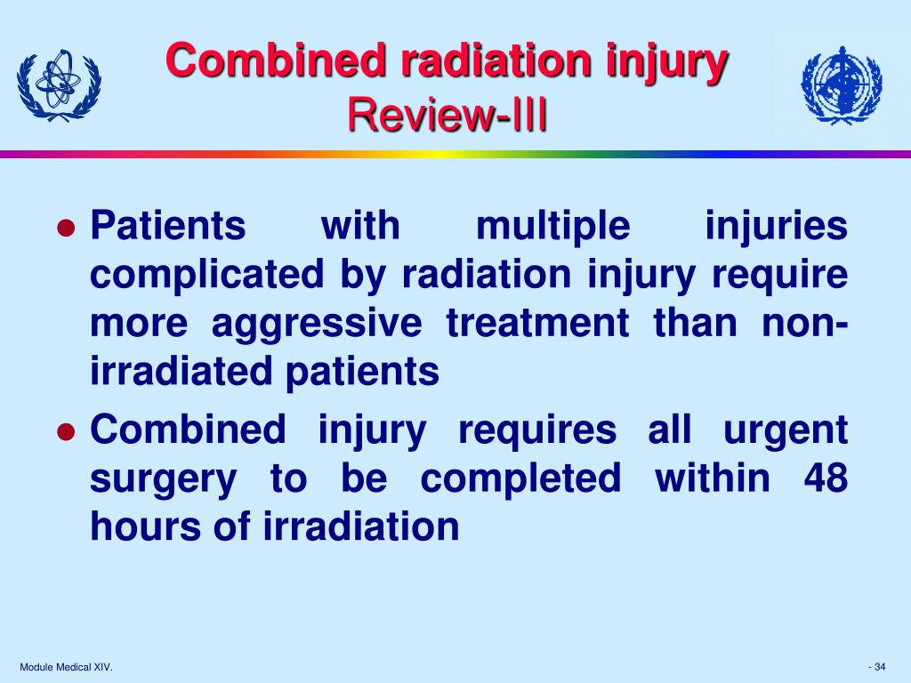 Combined radiation injury