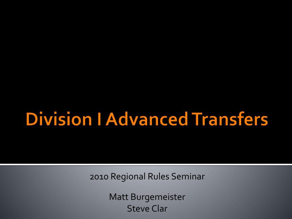 2010 Regional Rules Seminar