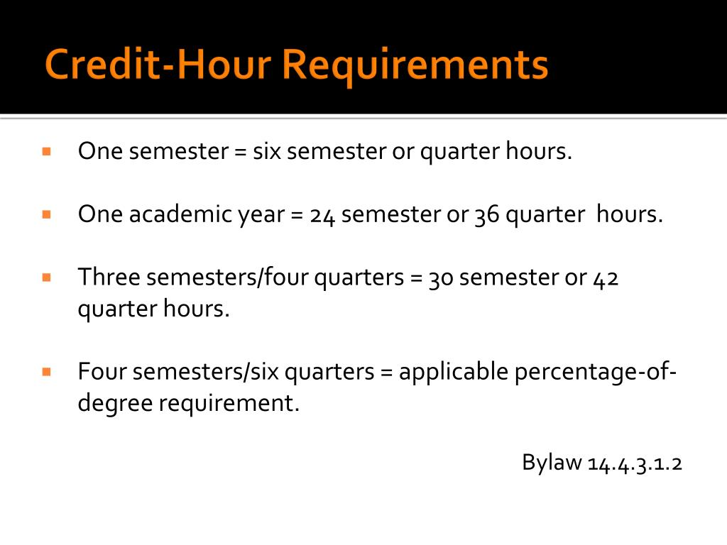 Credit-Hour Requirements