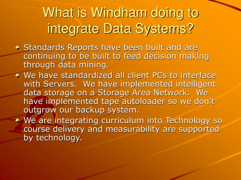 What is Windham doing to integrate Data Systems?