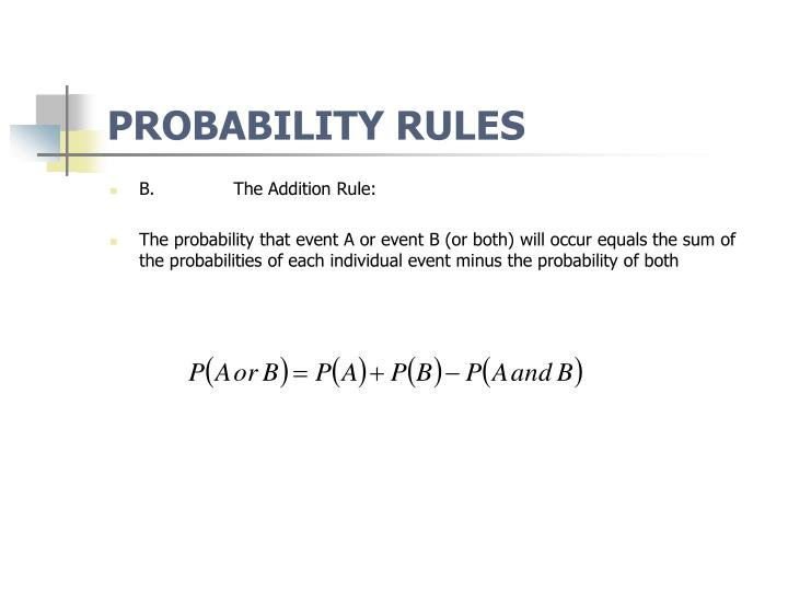 PROBABILITY RULES