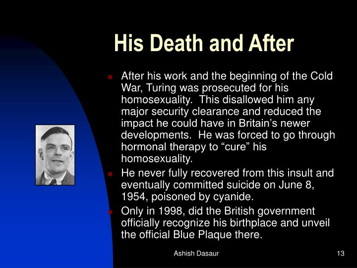 His Death and After