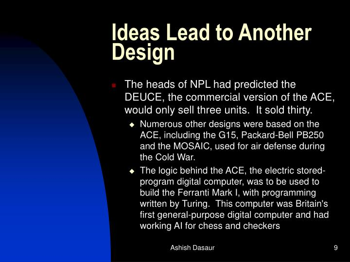 Ideas Lead to Another Design