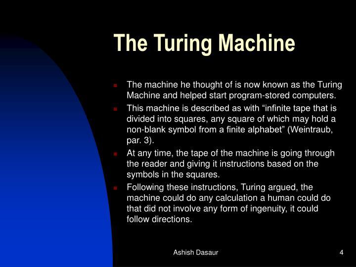 The Turing Machine