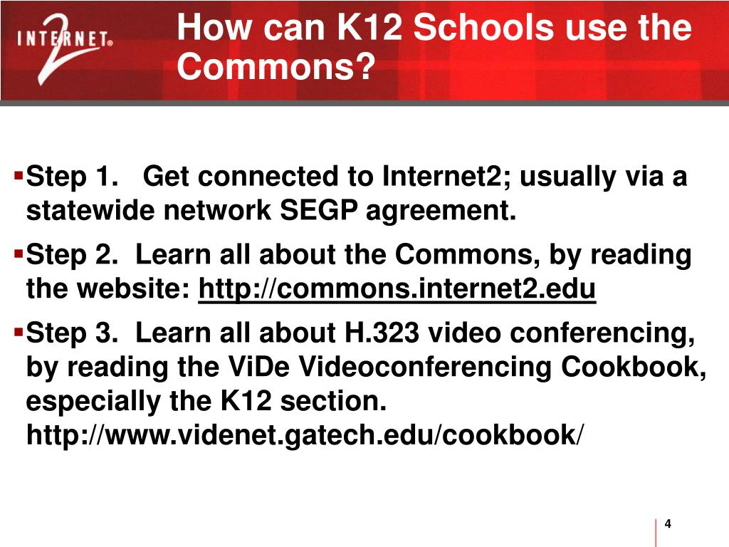 How can K12 Schools use the Commons?