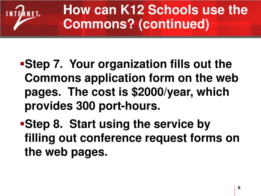 How can K12 Schools use the Commons? (continued)