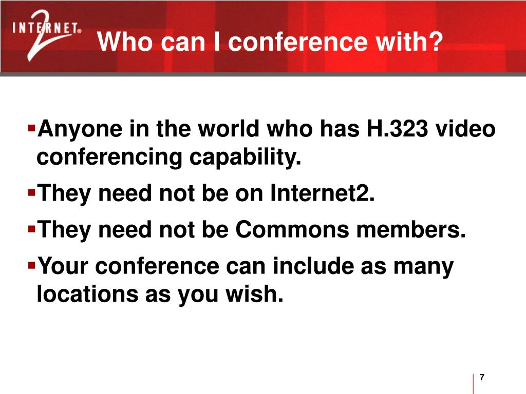 Who can I conference with?