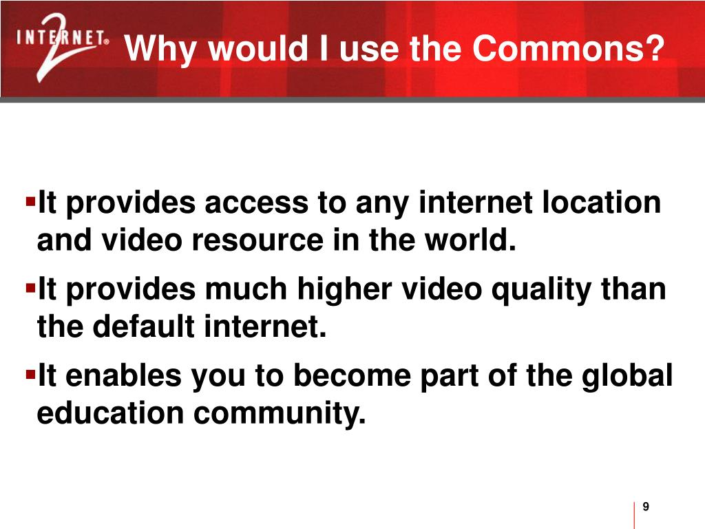 Why would I use the Commons?