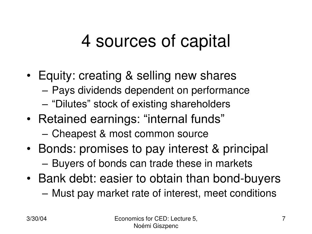 4 sources of capital