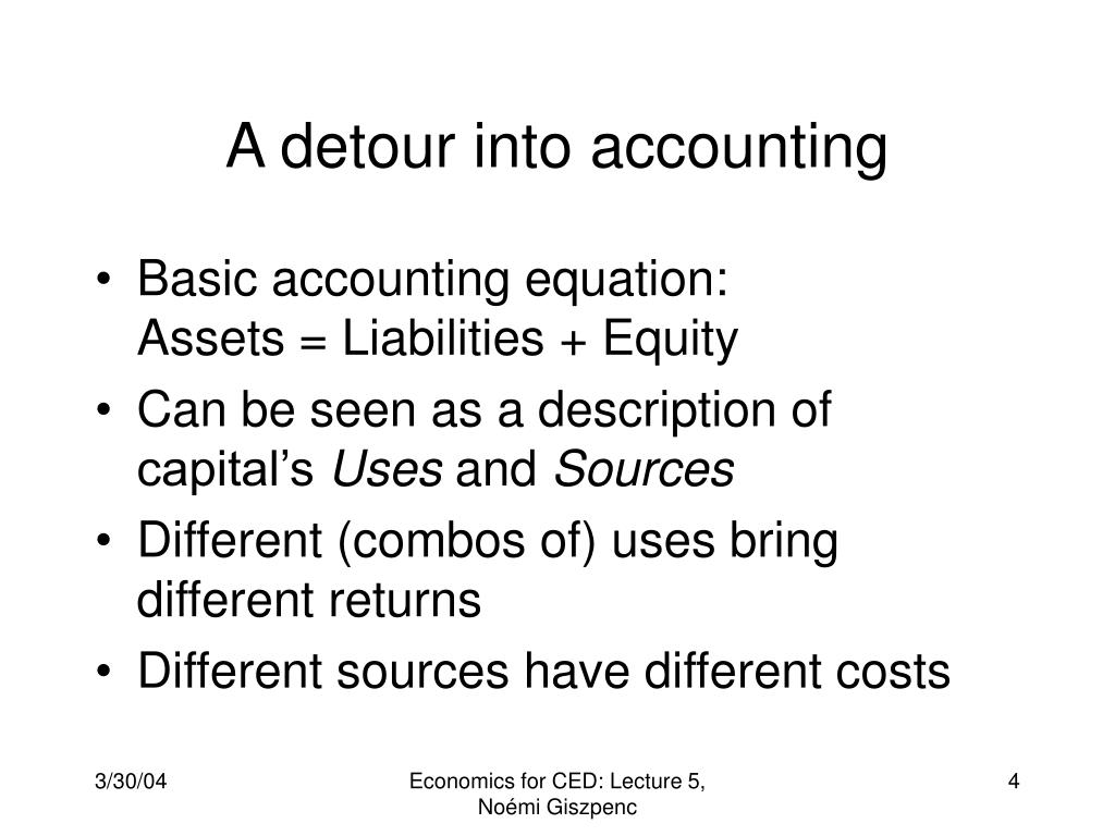 A detour into accounting