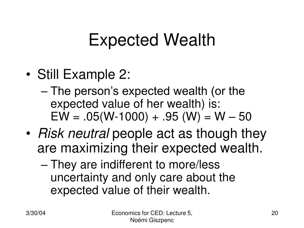 Expected Wealth