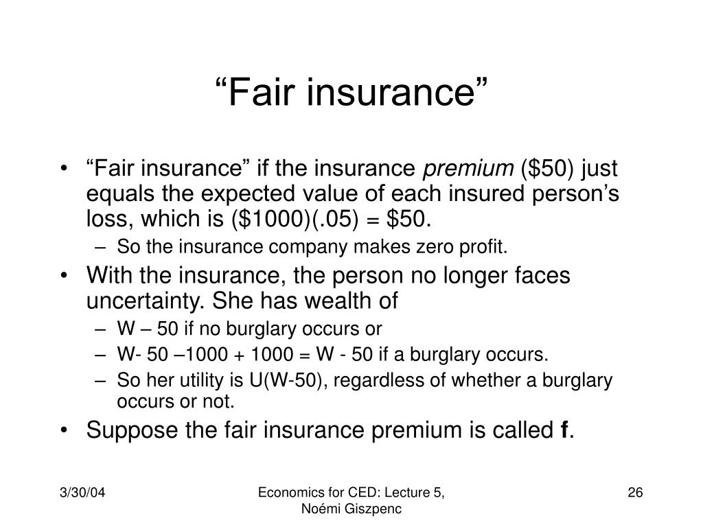 """""""Fair insurance"""""""