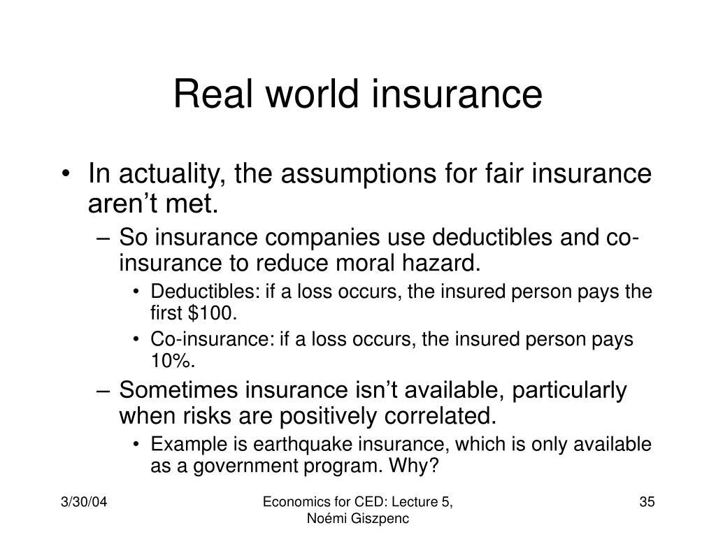Real world insurance