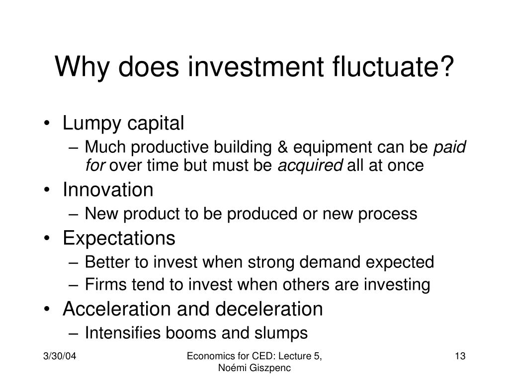 Why does investment fluctuate?