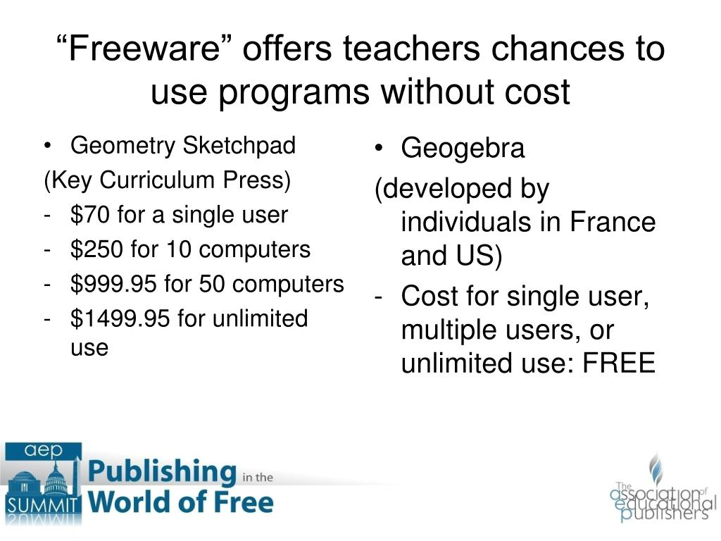 """Freeware"" offers teachers chances to use programs without cost"