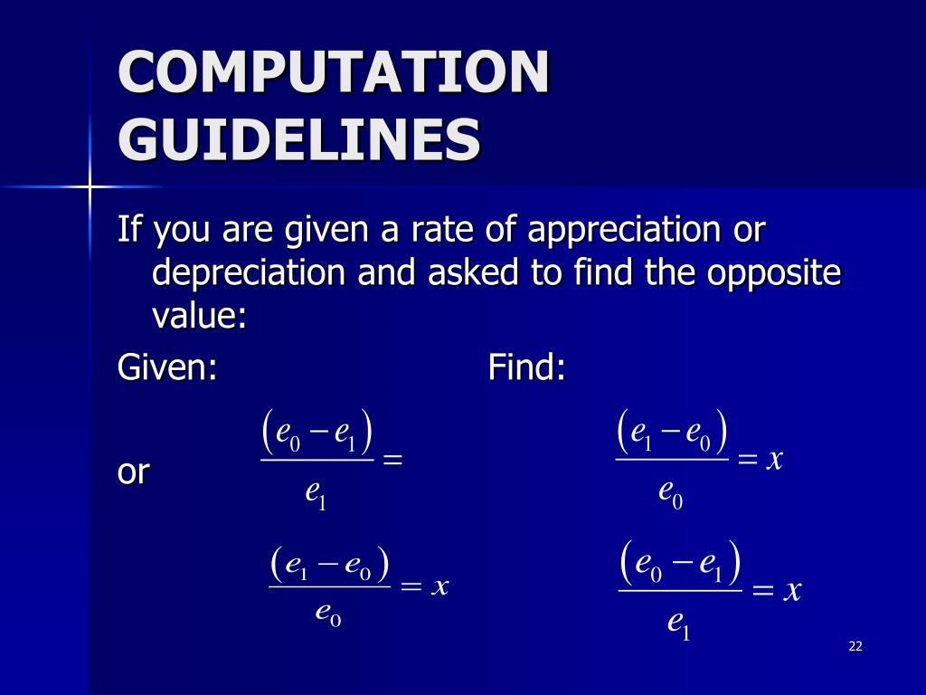 COMPUTATION GUIDELINES