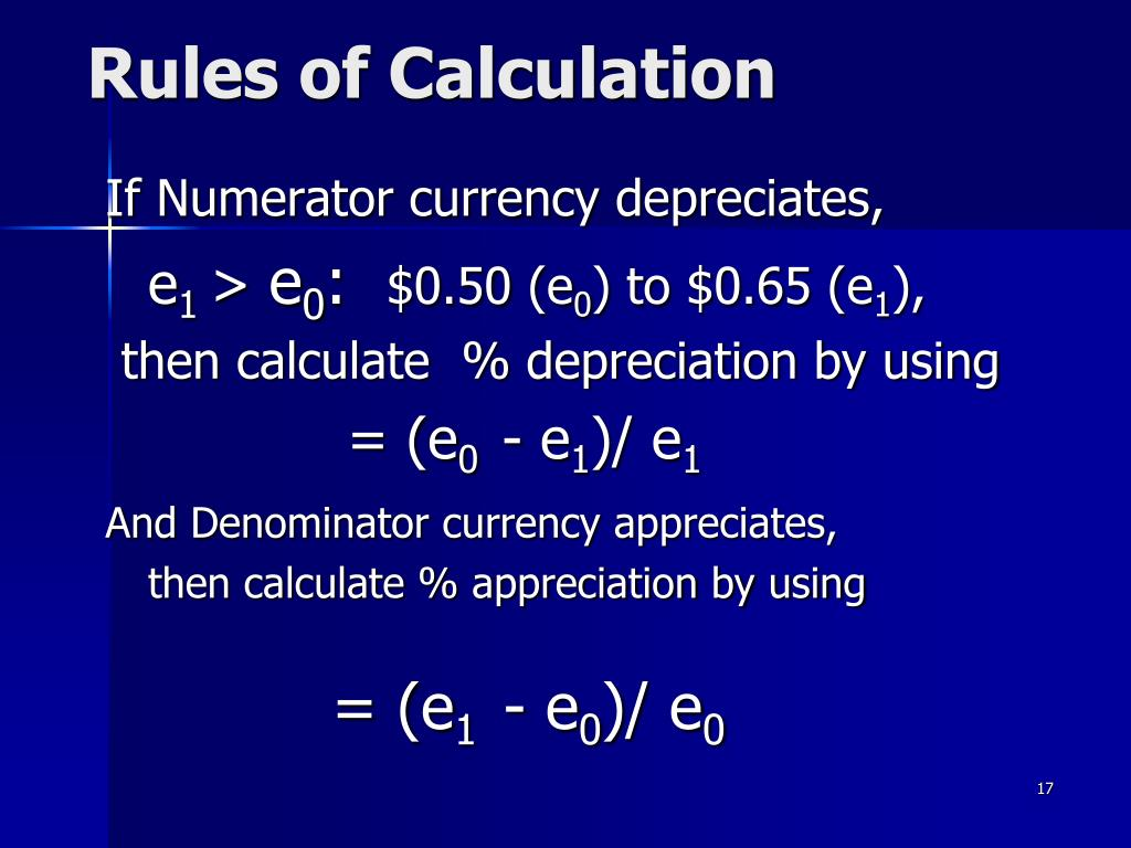Rules of Calculation