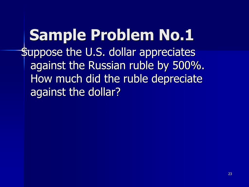 Sample Problem No.1