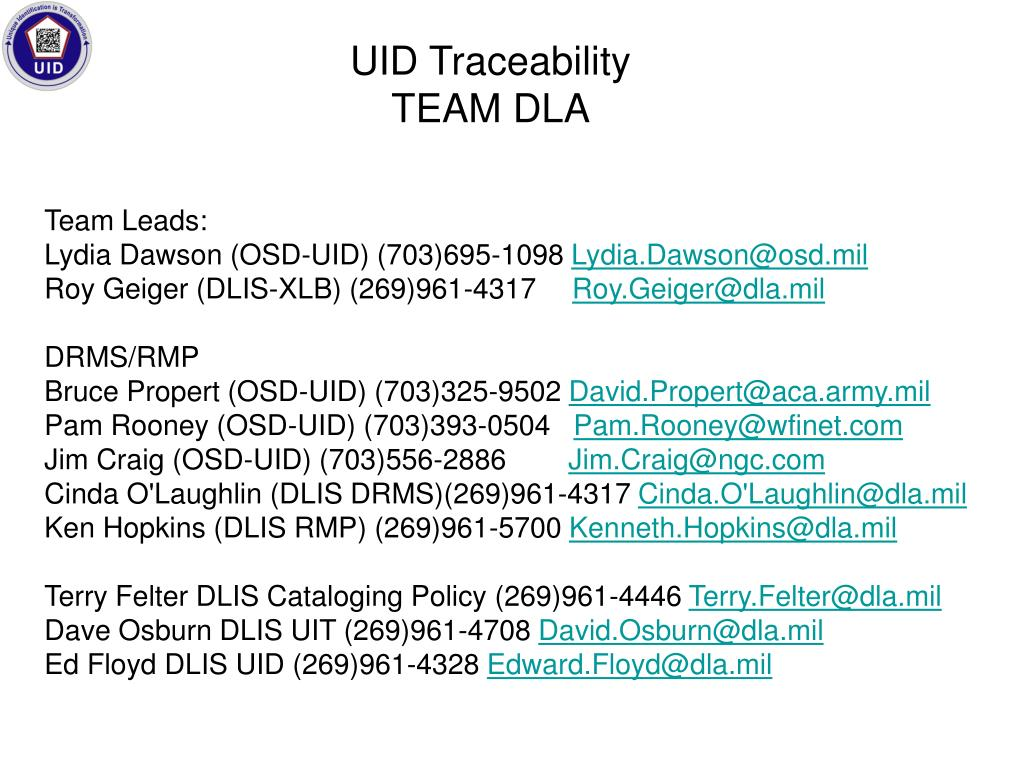 UID Traceability