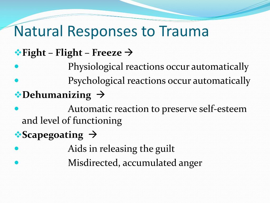 Natural Responses to Trauma